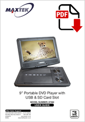 67062 - 9inch Portable DVD Player AVD-968