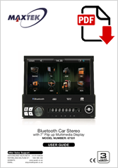 "67531 - Bluetooth Car Stereo with 7"" Flip up Multimedia Display"