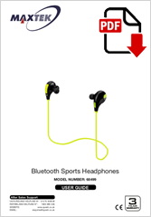 68499 - Bluetooth Sports Headphones BTE-501