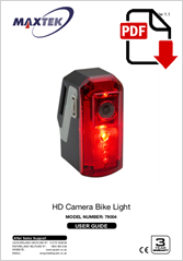 79004 - HD Camera Bike Light HR-510
