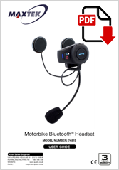 74815 - Motorbike Bluetooth Headset D3