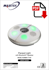 77437 - Parasol Light With Bluetooth Speaker PARA-01