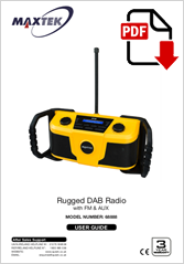 68888 - Rugged DAB Radio DB-2000