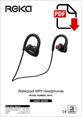 84010 - Waterpoof MP3 Headphones
