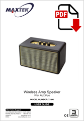 73200 - Wireless Amp Speaker MAR501