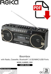 15991 - Boombox Cassette Player