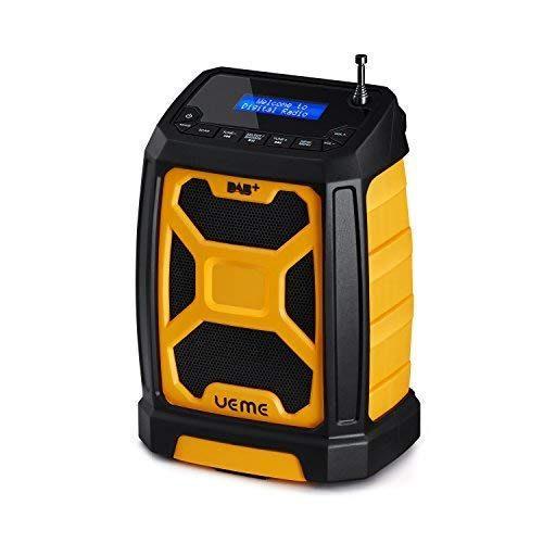 UEME Rugged DAB/FM Radio With Bluetooth and DAB+ License Yellow