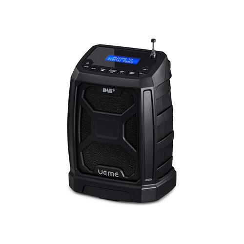UEME Rugged DAB/FM Radio With Bluetooth and DAB+ License Black